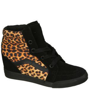 Vans Sk8-Hi Wedge Leopard Trainers - Black