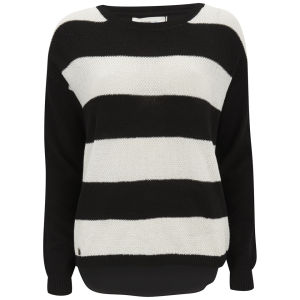 Vero Moda Women's Micki Stripe Jumper -  White