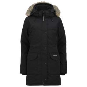 Canada Goose Women's Trillium Fur Trim Hooded Parka - Black
