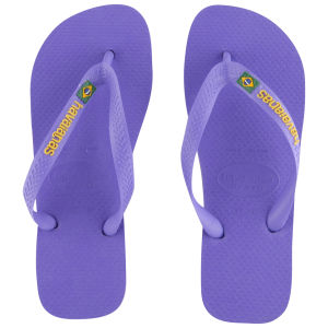 Havaianas Women's Brasil Logo Flip Flops - Purple