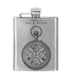 Victoriana 'Time For A Drink' Hip Flask