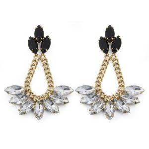 Love Rocks Chanderlier Embellished Earrings - Gold