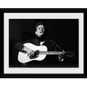 Johnny Cash Guitar - 16x12 Framed Photographic