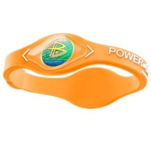 Power Balance -The Original Performance Wristband   Neon Orange With White Lettering