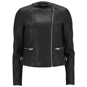 VILA Women's ViPax PU Jacket - Black