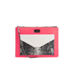Paul's Boutique Lilly Snake Colour Block Cross Body Bag - Coral