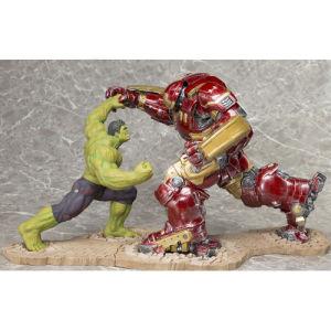 Kotobukiya Marvel Avengers Age of Ultron Iron Man Hulkbuster And Hulk ArtFX+ Statue Set