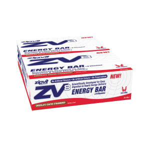 ZipVit ZV8 Energy Bar - Box of 20 - Chocolate Coated Strawberry