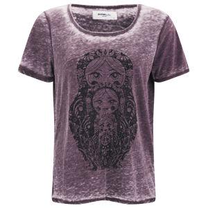 Vero Moda Women's Moog Burnout T-Shirt - Winetasting