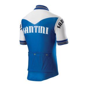 Santini Tech Wool Heritage Short Sleeve Jersey - Light Blue