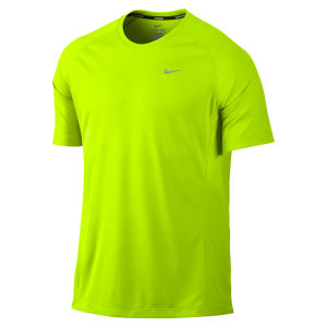 Nike Men's Miler Short Sleeve T-Shirt - Volt Green
