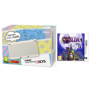 NEW 3DS White Console - Includes Legend of Zelda: Majora's Mask