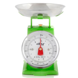 Cook In Colour 3kg Mini Traditional Kitchen Scales - Green