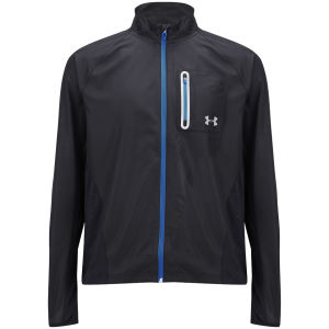 Under Armour Men's Max Vent Run Jacket - Black/Electric Blue/Reflective