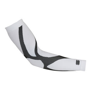 Sportful 2nd Skin Arm Warmers - White/Black