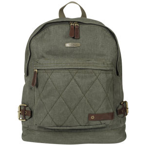 Boxfresh Waxed Canvas Woodman Quilted Backpack - Green