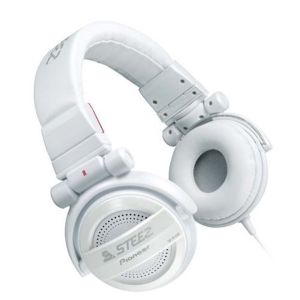 Pioneer SE-D10M-W STEEZ Collapsable Closed Dynamic Headphones - White