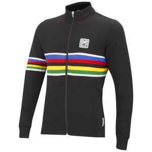 UCI Rainbow Fashion Line Long Sleeve Full Zip Jersey - Black