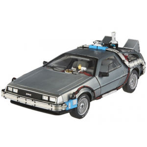 Hot Wheels Elite Back to the Future Delorean Time Machine with Mr Fusion 1:18 Scale Model