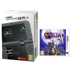 NEW 3DS XL Metallic Black Console - Includes Legend of Zelda: Majora's Mask