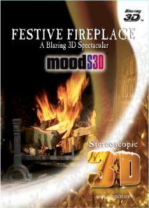Festive Fireplace: A Blazing 3D Spectacular