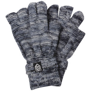 Smith & Jones Men's Erratica Twist Fingerless Gloves - Blue Mix - One Size