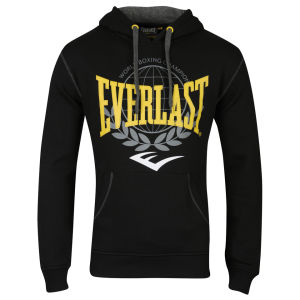 Everlast Men's Large Print Hooded Sweat - Black/Yellow