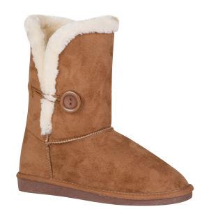 Red Rock Women's Ugg Style Faux Sheepskin Boots - Chestnut