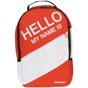 Sprayground Hello My Name Is Deluxe Backpack - Red