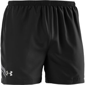 Under Armour Men's Escape 5 Inch Woven Shorts - Black/Graphite/Reflective