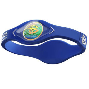 Power Balance -The Original Performance Wristband   Blue With White Lettering