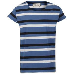 Jack & Jones Herren Robit Streifen T-Shirt - Blau