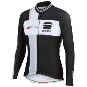 Sportful Gruppetto Long Sleeve Jersey - Black/White