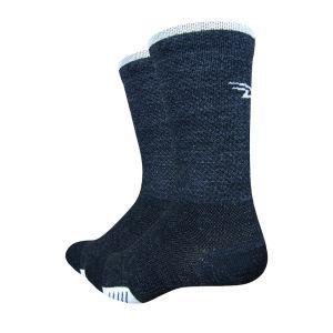 DeFeet Cyclismo Wool 5 Inch Cuff Socks - Black/White