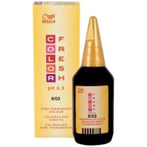 Wella 鲜色染发剂弱光自然金发8.03(75毫升)