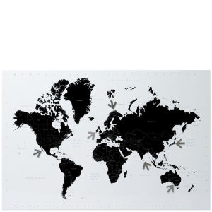 Memo Board World Map ? Black & White