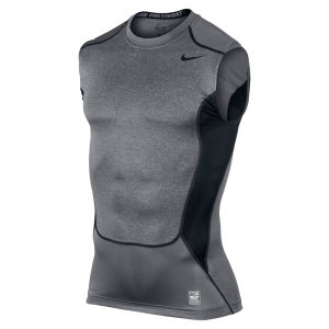 Nike Men's Hypercool Compression Sleeveless Top 2.0 - Carbon Heather