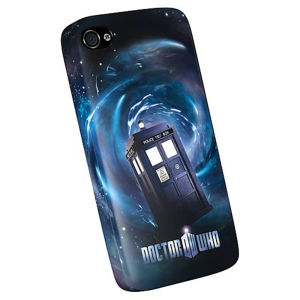 Doctor Who iPhone 4 Plastic Cover - Tardis