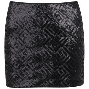 Vero Moda Women's Maise Sequin Mini Skirt - Black