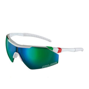 Salice 004 ITA Sports Sunglasses - White/Green