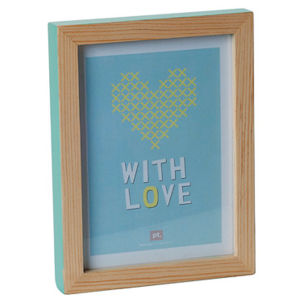 Medium Hand Painted Photo Frame - Green