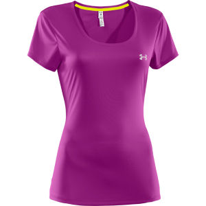 Under Armour Women's Heatgear Fly Weight T-Shirt - Strobe/Reflective