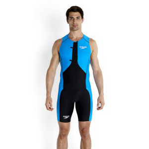 Speedo Men's LZR Racer Tri Comp Singlet - Black/Pool/White