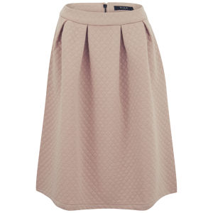 VILA Women's Sady Midi Skirt - Cameo Rose