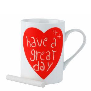 Red Heart Chalkboard Mug
