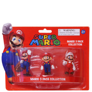 Super Mario Bros. Mini Figures Three Pack - 5cm