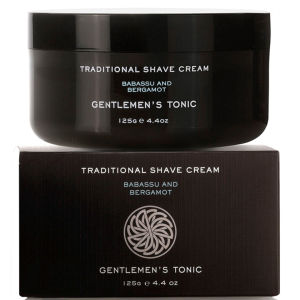 Gentlemen's Tonic Shaving Duo - Traditional Shave Cream and Soothing Aftershave Balm: Image 2
