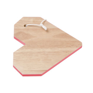 Origami Heart Cutting Board - Neon Orange Rim