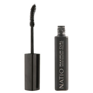 Natio Maximum Curl mascara resistente all'acqua - Blackest Black (10 ml)