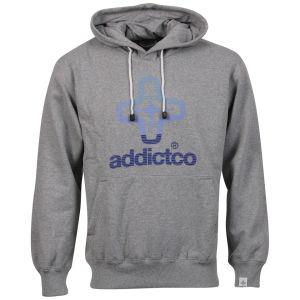 Addict Men's Icon Fade Hoody - Grey Marl